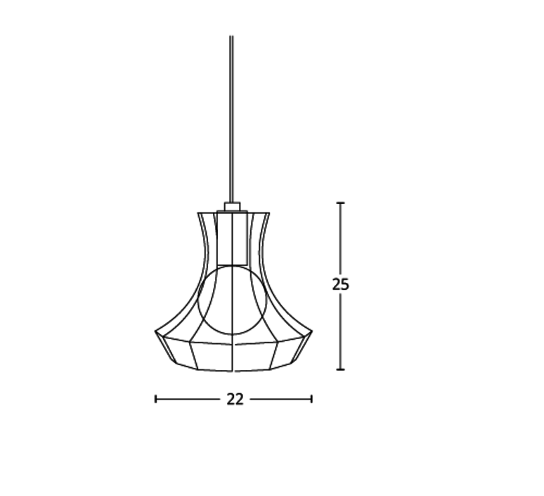 Lady cage massimo rosati zava lady cage suspension h25cm noir 9005 cable black rayon luminaire lighting design signed 17423 product