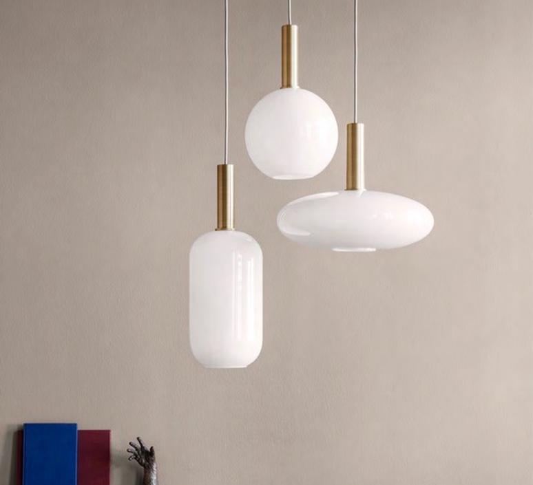 Laiton et sphere  suspension pendant light  ferm living 5107 5148  design signed 36797 product