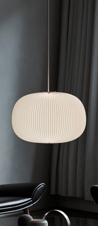 Suspension lamella 1 blanc led o46cm h33cm le klint normal