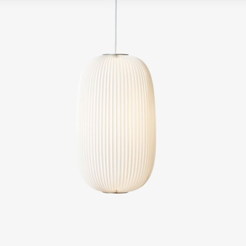 Suspension lamella 2 blanc aluminium led o30cm h52cm le klint normal