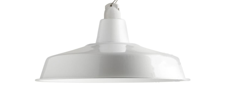 Suspension lampe d atelier blanc o40cm h18cm zangra normal