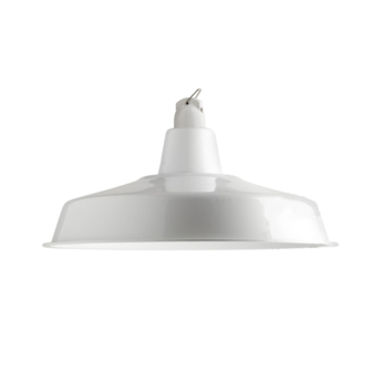 Suspension lampe d atelier blanc o40cm h18cm zangra normal
