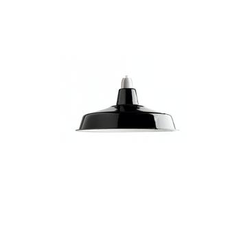 Suspension lampe d atelier email noir noir o40cm h16cm zangra normal