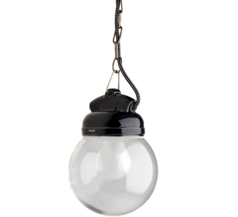 Lampe etanche en pure porcelaine noire studio zangra suspension pendant light  zangra light o 023 b 005  design signed nedgis 66973 product