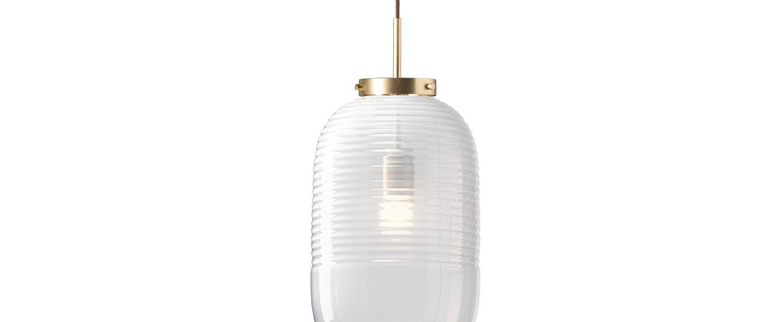 Suspension lantern blanc laiton patine o25cm h50 5cm bomma normal