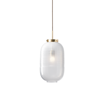 Suspension lantern blanc laiton patine o25cm h50 5cm bomma normal