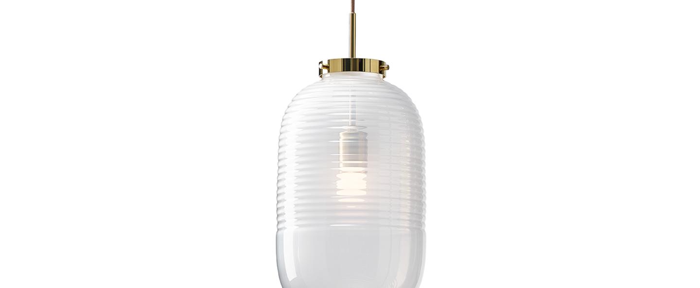 Suspension lantern blanc laiton poli o25cm h50 5cm bomma normal