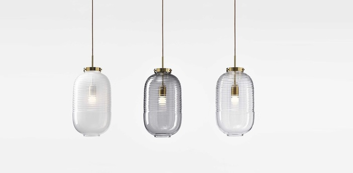 Suspension lantern blanc laiton poli o25cm h50 5cm bomma normal