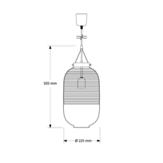 Lantern jan plechac et henry wielgus  suspension pendant light  bomma 1 80 95130 1 00wht 505 pbr  design signed 54236 thumb