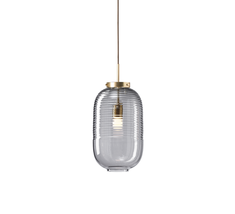 Lantern jan plechac et henry wielgus  suspension pendant light  bomma 1 80 95130 1 00smk 505 lpbr  design signed 54225 product