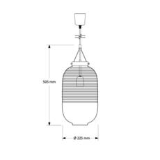 Lantern jan plechac et henry wielgus  suspension pendant light  bomma 1 80 95130 1 00smk 505 lpbr  design signed 54226 thumb