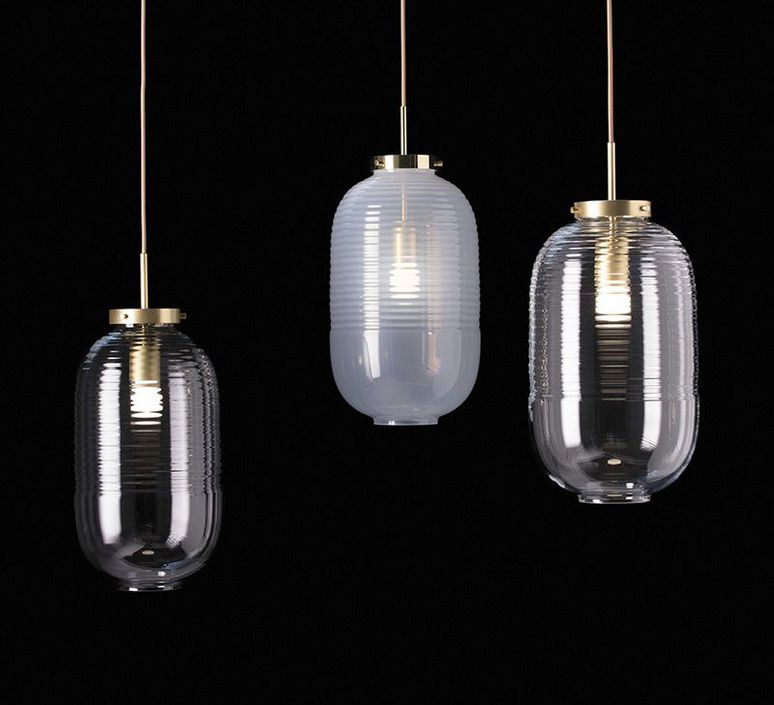 Lantern jan plechac et henry wielgus  suspension pendant light  bomma 1 80 95130 1 00smk 505 lpbr  design signed 54245 product