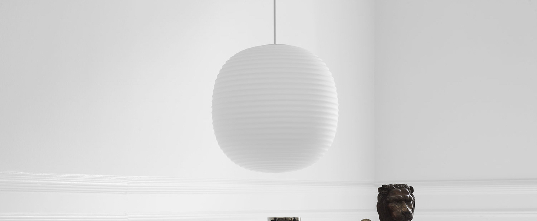 Suspension lantern large blanc o400cm hcm new works normal