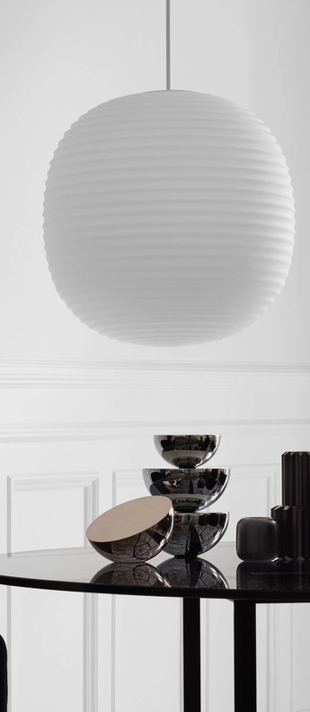 Suspension lantern large blanc o400cm hcm new works normal