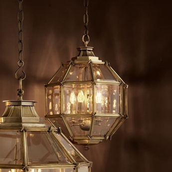 Suspension lantern owen l laiton verre l80cm h98cm eichholtz normal