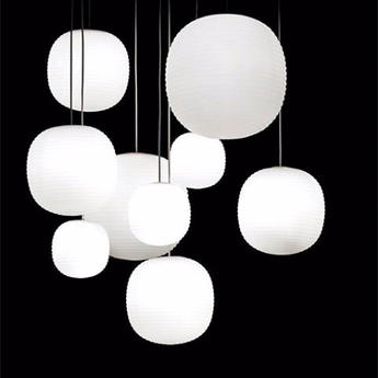 Suspension lantern small blanc o200cm hcm new works normal