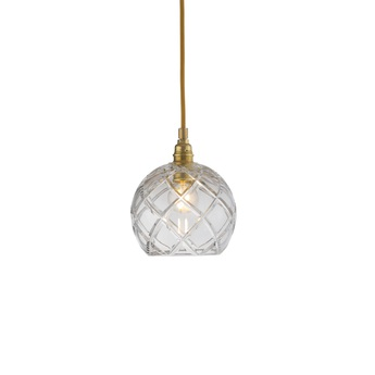 Suspension large check crystal rowan 15 5 transparent or o15cm h15cm ebb and flow normal