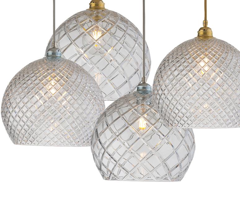 Large check crystal rowan 28 susanne nielsen suspension pendant light  ebb and flow la101536  design signed nedgis 72745 product