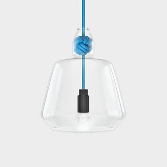 Suspension large knot bleu h22 4cm vitamin normal