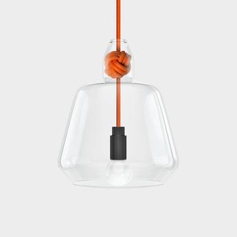 Suspension large knot orange h22 4cm vitamin normal