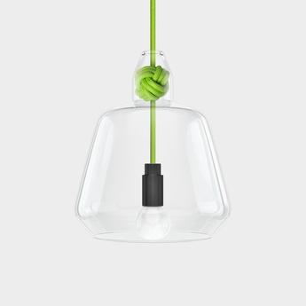 Suspension large knot vert h22 4cm vitamin normal