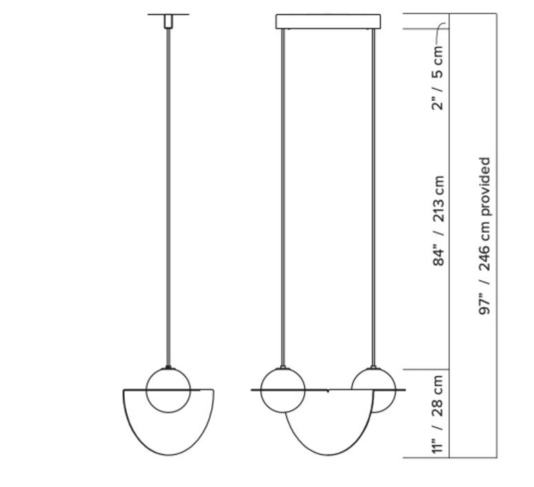 Laurent 01 studio lambert fils suspension pendant light  lambert fils lrt01awbkbkbkbk  design signed nedgis 114508 product