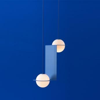 Suspension laurent 05 bleu l41cm h51cm lambert fils normal