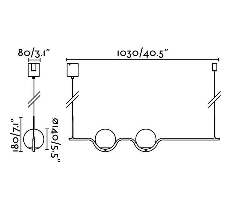 Le vita nahtrang design suspension pendant light  faro 29691  design signed nedgis 63322 product
