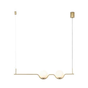 Suspension le vita blanc or led 2700k 1200lm l103cm h18cm faro normal