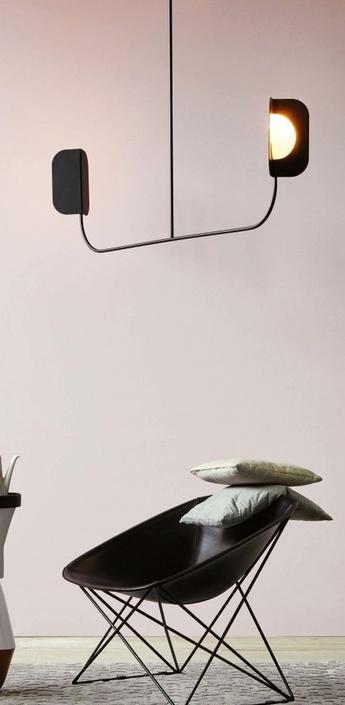 Suspension leaf noir mat l140cm mm lampadari normal
