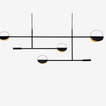 Suspension leaves noir led 2700k 9w l125cm h48 5cm bolia normal