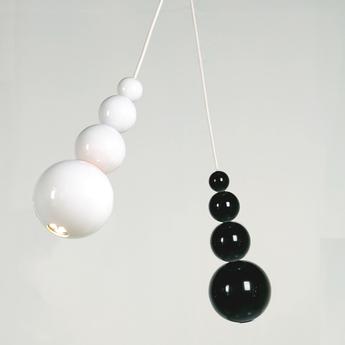 Suspension led bubble blanc brillant h29cm innermost normal