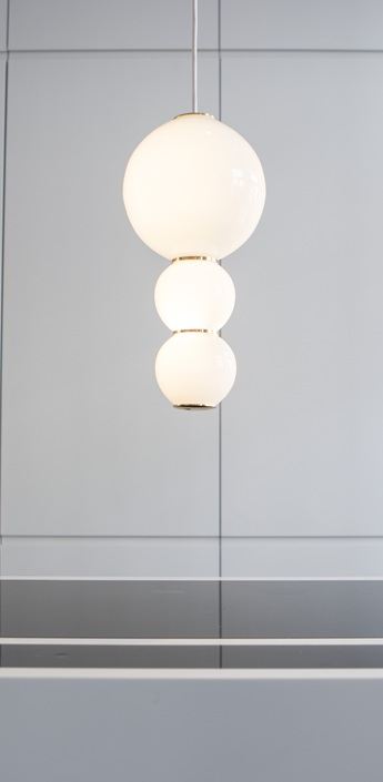 Suspension led c pearls blanc or o18cm formagenda normal