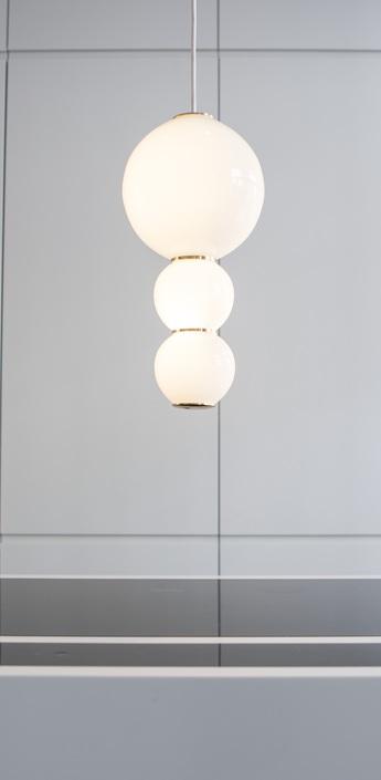 Suspension led c pearls blanc or o18cm formagenda normal
