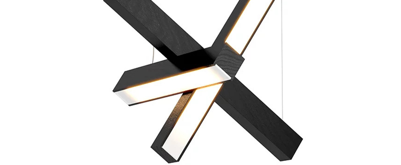 Suspension led cross 40 noir o40cm h40cm tunto normal