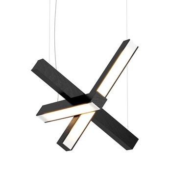 Suspension led cross 40 noir o40cm h40cm tunto normal