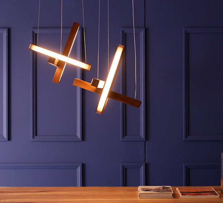 Led cross 40 mikko karkkainen suspension pendant light  tunto ledcross noyer  design signed 46216 product