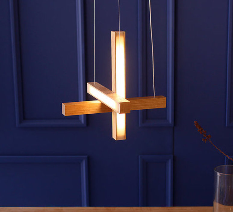 Led cross 40 mikko karkkainen suspension pendant light  tunto ledcross noyer  design signed 46217 product