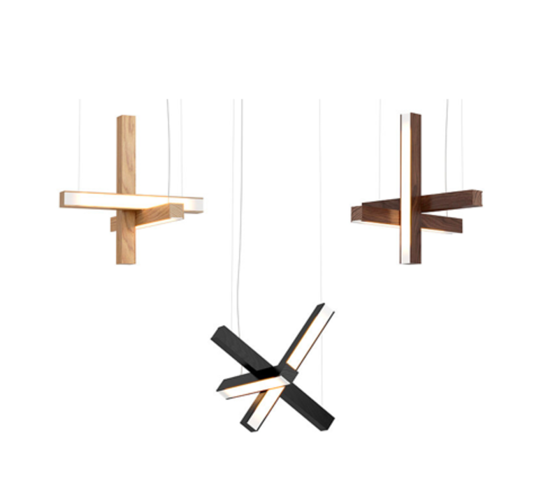 Led cross 40 mikko karkkainen suspension pendant light  tunto ledcross noyer  design signed 46221 product