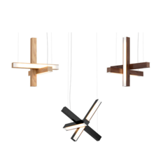 Led cross 40 mikko karkkainen suspension pendant light  tunto ledcross noyer  design signed 46221 thumb