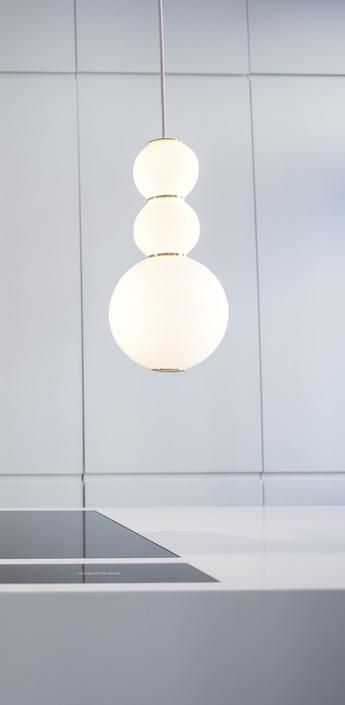 Suspension led d pearls blanc or o18cm formagenda normal