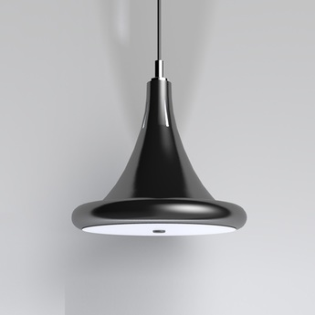 Suspension led dimable radius core noir o39cm ilomio normal