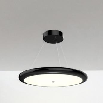 Suspension led dimable radius single noir o65cm ilomio normal