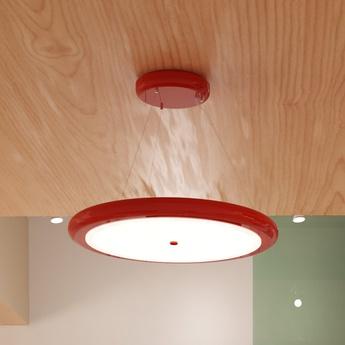 Suspension led dimable radius single rouge o65cm ilomio normal