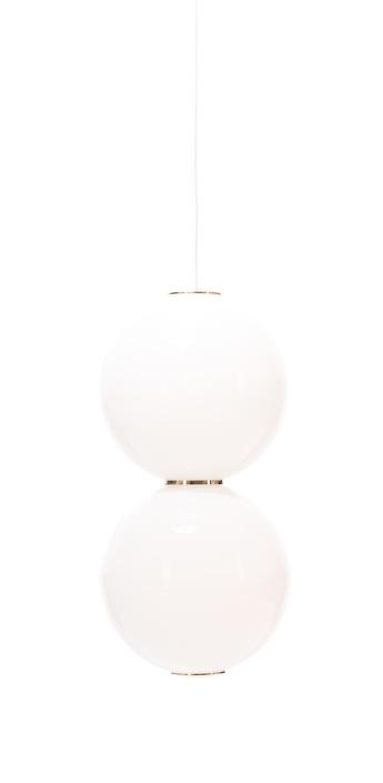 Suspension led e pearls blanc or o18cm formagenda normal