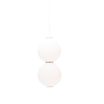 Suspension led e pearls blanc or o18cm formagenda normal