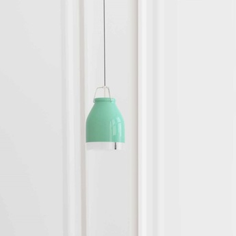 Suspension led wifi cowbell bleu vert h21cm ilomio normal