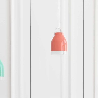 Suspension led wifi cowbell rouge pastel h21cm ilomio normal