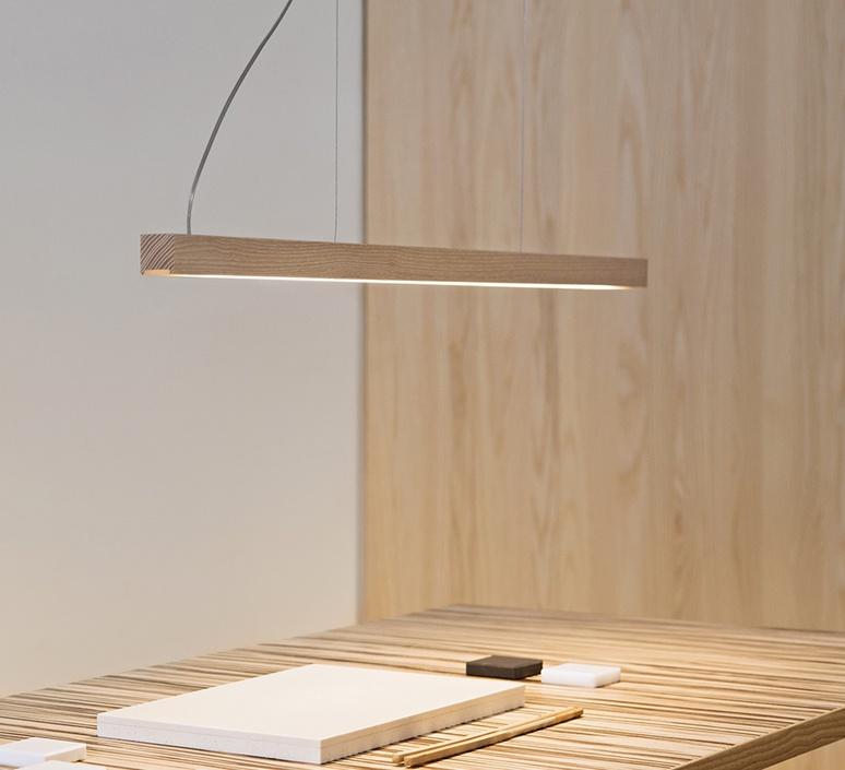 Led28 mikko karkkainen tunto led28 pendant lamp 80 oak luminaire lighting design signed 27845 product