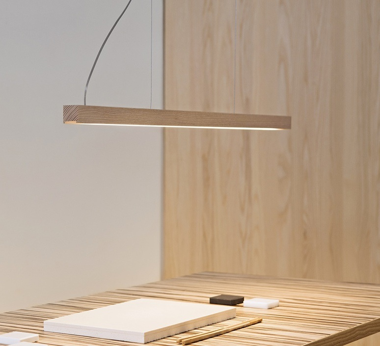 Led28 mikko karkkainen tunto led28 pendant lamp 80 oak luminaire lighting design signed 75645 product